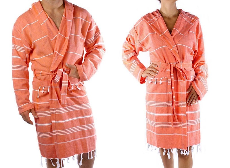 Sultans Bathrobe-Orange 1